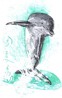 Bild tierzeichnung-delfin-png